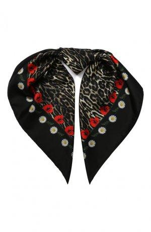 Шелковый платок Elie Saab. Цвет: чёрный