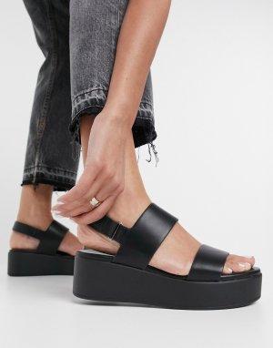 Черные сандалии на платформе Aldo-Черный ALDO