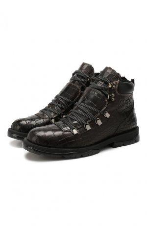 Кожаные ботинки Barra Jimmy Choo. Цвет: темно-коричневый