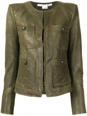 Приталенная куртка Veronica Beard. Цвет: зеленый