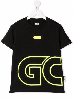 Oversized logo-print T-shirt Gcds Kids. Цвет: черный