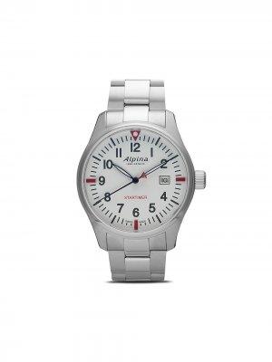 Наручные часы Startimer Pilot Quartz GMT 42 мм Alpina. Цвет: white