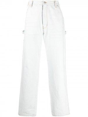 Прямые джинсы Maison Margiela. Цвет: белый