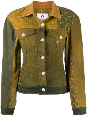 Джинсовая куртка Marine Serre. Цвет: зеленый