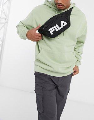 Черная сумка-кошелек на пояс с крупным логотипом Coel-Черный цвет Fila