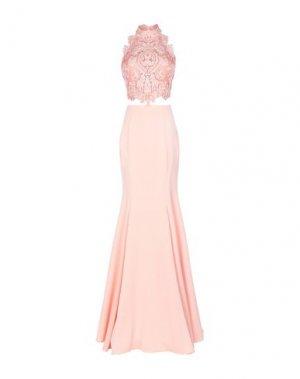 Длинное платье LEXUS. Цвет: лососево-розовый
