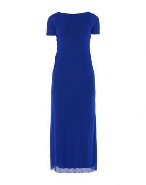 Длинное платье FUZZI. Цвет: ярко-синий