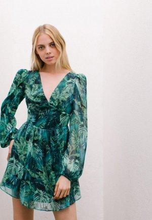 Платье Bershka. Цвет: зеленый