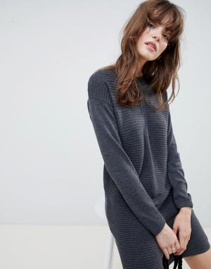 Вязаное платье мини Eco-Серый ASOS DESIGN
