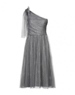 Платье длиной 3/4 REDValentino. Цвет: серый