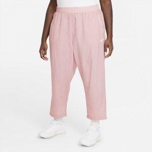 Женские брюки из тканого материала Air (большие размеры) - Розовый Nike