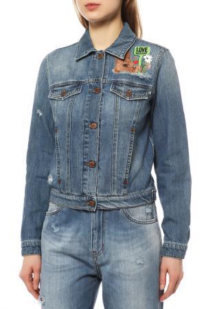 Джинсовая куртка Love Moschino. Цвет: 536w