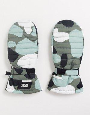 Камуфляжные варежки ski-Мульти ASOS 4505
