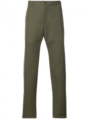 Классические брюки чинос A.P.C.. Цвет: зелёный