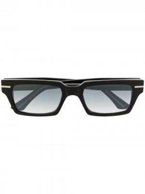 Солнцезащитные очки в прямоугольной оправе Cutler & Gross. Цвет: черный