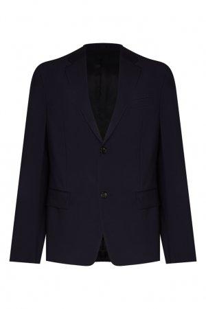 Темно-синий костюмный пиджак Prada. Цвет: синий