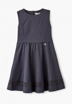 Платье Alessandro Borelli Milano. Цвет: серый