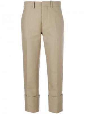 Укороченные брюки чинос Marni. Цвет: бежевый