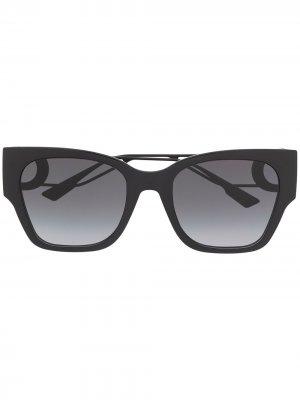 Солнцезащитные очки 30Montaigne1 в квадратной оправе Dior Eyewear. Цвет: черный