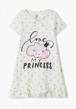 Сорочка ночная Ruz Kids. Цвет: белый