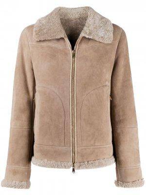 Куртка из овчины Brunello Cucinelli. Цвет: нейтральные цвета