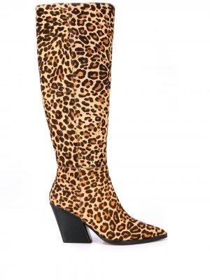 Сапоги Isobel с леопардовым принтом Dolce Vita. Цвет: коричневый