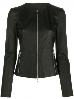Приталенная куртка без воротника Drome. Цвет: черный