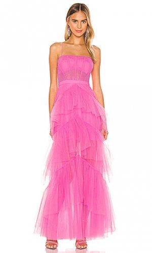 Вечернее платье corset BCBGMAXAZRIA. Цвет: розовый
