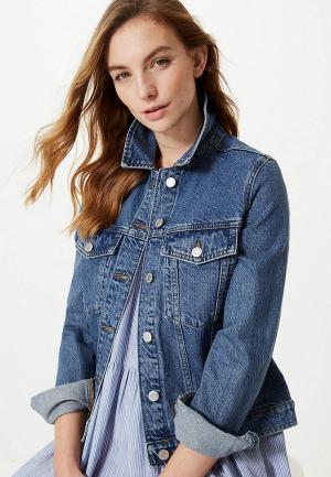 Куртка джинсовая Marks & Spencer. Цвет: синий
