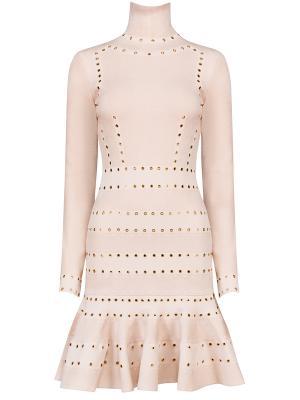 Платье с люверсами A.MCQUEEN
