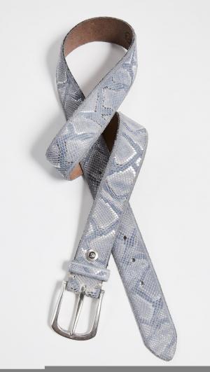 Metallic Python Belt B.