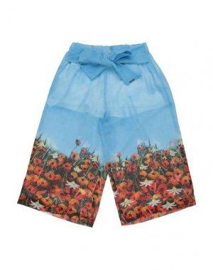 Повседневные брюки LOREDANA. Цвет: лазурный