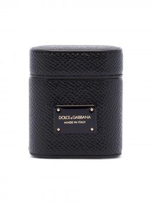Футляр для Airpods Dolce & Gabbana. Цвет: черный