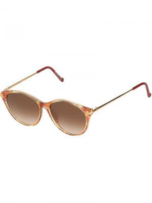 Круглые солнцезащитные очки Christian Lacroix Pre-Owned. Цвет: желтый
