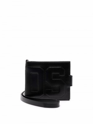 Бумажник с тисненым логотипом Gcds. Цвет: черный