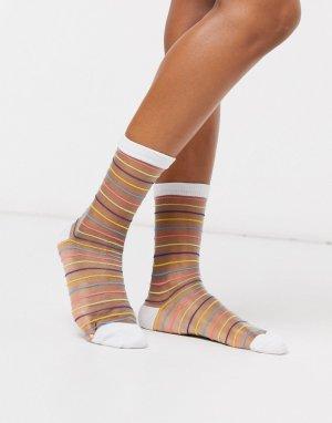 Сетчатые носки в разноцветную полоску -Мульти Gipsy