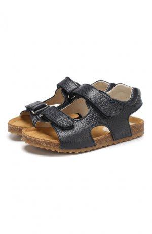Кожаные сандалии Il Gufo. Цвет: синий