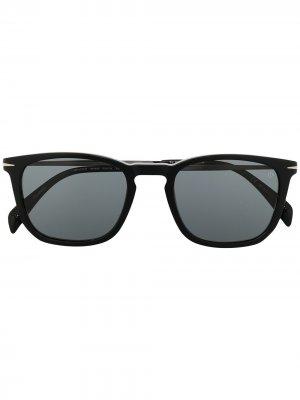 Солнцезащитные очки в квадратной оправе Eyewear by David Beckham. Цвет: золотистый