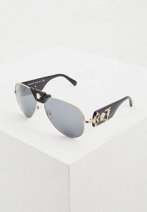 Очки солнцезащитные Versace VE2150Q 12526G. Цвет: черный