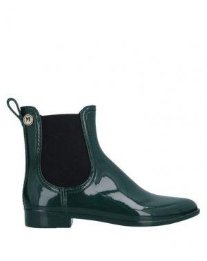 Полусапоги и высокие ботинки M MISSONI. Цвет: темно-зеленый