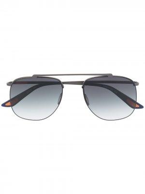 Солнцезащитные очки-авиаторы с эффектом градиента Christian Roth. Цвет: синий