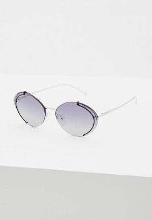 Очки солнцезащитные Prada PR 60US GAQ3A0. Цвет: серебряный
