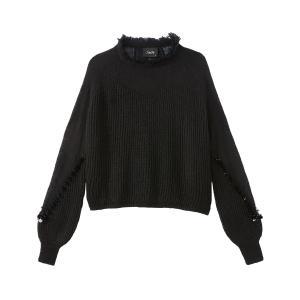 Пуловер из тонкого трикотажа SCHOOL RAG. Цвет: черный