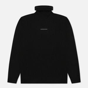 Мужская водолазка Micro Branding Roll Neck Calvin Klein Jeans. Цвет: чёрный