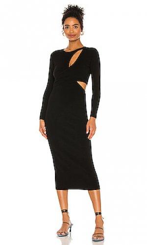 Платье миди lorelei A.L.C.. Цвет: черный