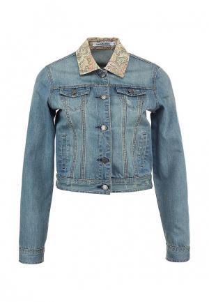 Куртка джинсовая LiberaVita. Цвет: голубой