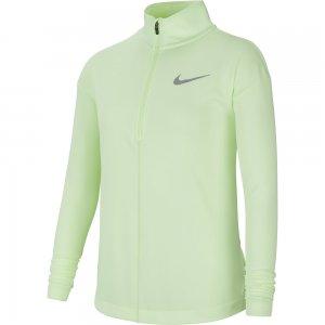 Run Longsleeve Half Zip Top Nike. Цвет: зеленый