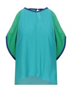 Блузка HANITA. Цвет: бирюзовый