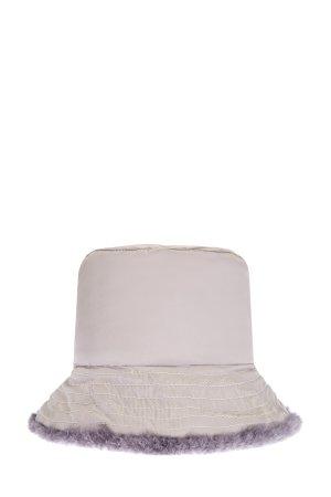 Шляпа из меха ягненка с водонепроницаемой отделкой LORENA ANTONIAZZI. Цвет: бежевый