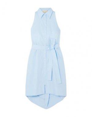 Платье до колена ANTONIO BERARDI. Цвет: небесно-голубой